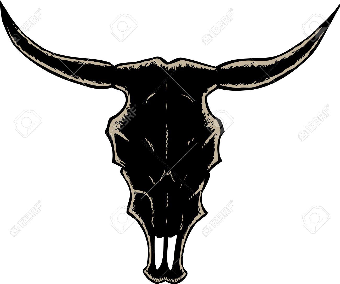 1300x1087 Bull Skull Clipart