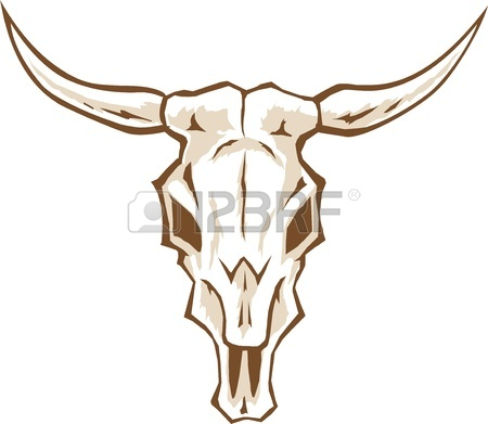 450x391 Outline Bull Skull Royalty Free Cliparts, Vectors, And Stock