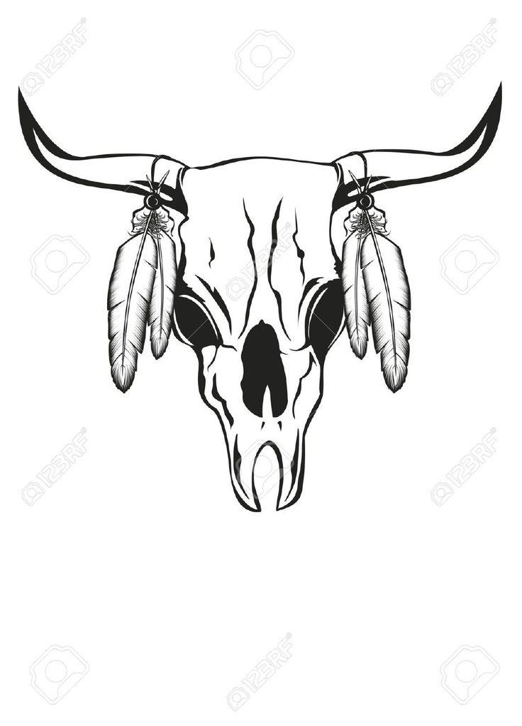 736x1022 Best Cow Skull Tattoos Ideas Taurus Tattoos