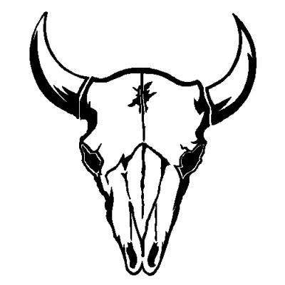 400x400 Buck Clipart Cow Skull