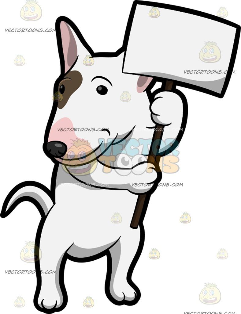 Bull Terrier Cartoon Clipart