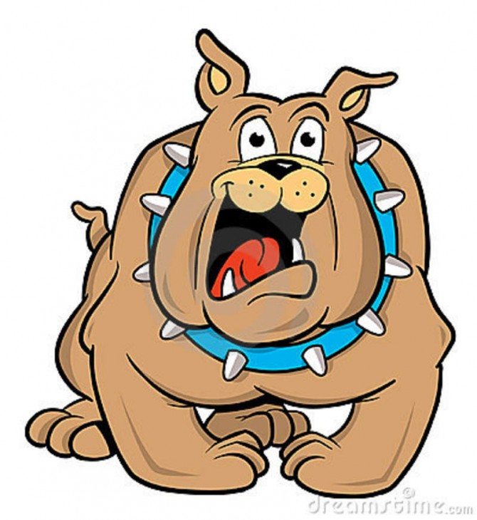 670x730 Bulldog Clipart Happy