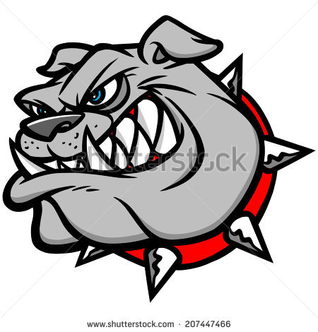 450x470 Bulldog Clipart Vector