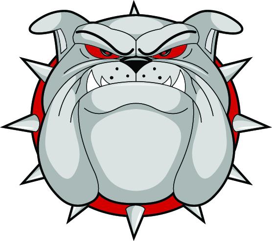 556x493 Bulldog head clip art