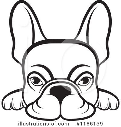 400x420 French Bulldog Clipart Illustration