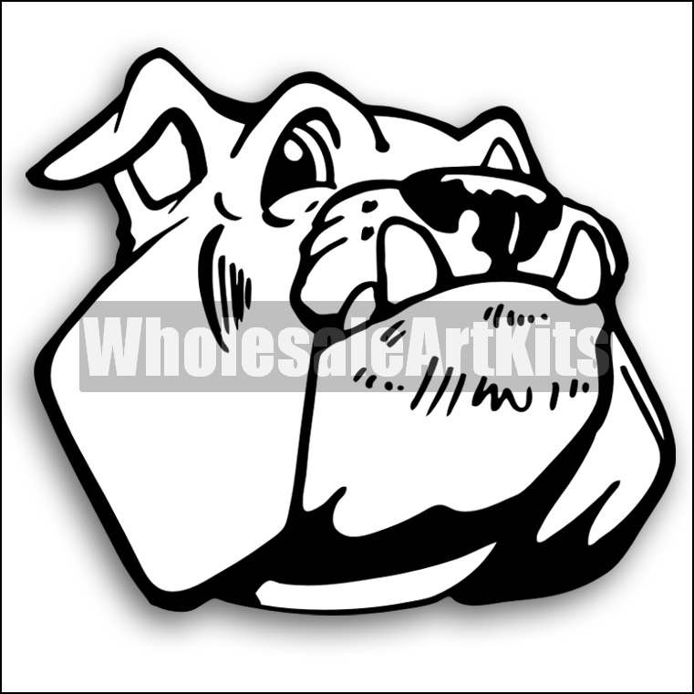 761x761 Bulldog Clipart Kit 01 For Coreldraw And Illustrator