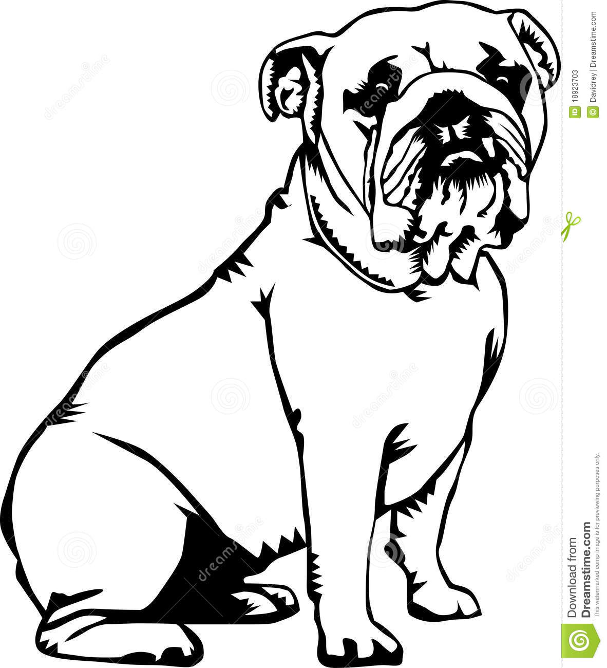 1182x1300 Drawn Bulldog Black And White