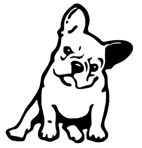 574x600 French Bulldog Dog Vinyl Car Sticker Luvvadog