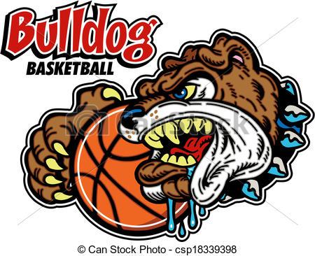 450x366 Bulldog Basketball Clipart