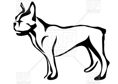 400x283 French Bulldog Silhouette Royalty Free Vector Clip Art Image