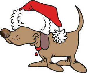 300x255 Bulldog Clipart Christmas