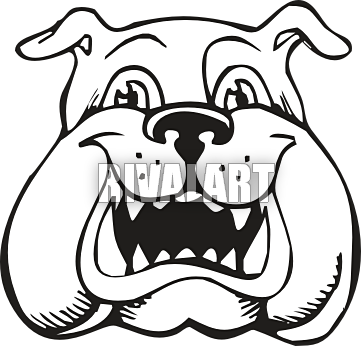 361x346 Bulldog Face Clip Art