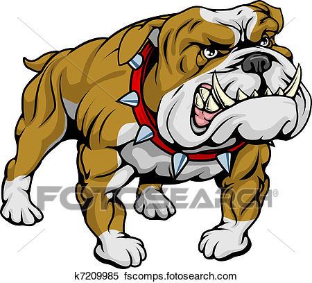 450x408 Clip Art Of Bulldog Face K3931226