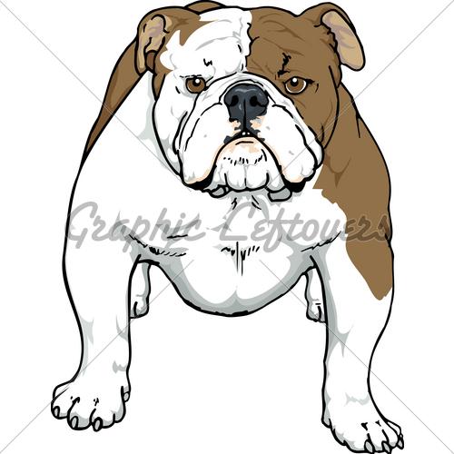 500x500 English Bulldog Face Clipart