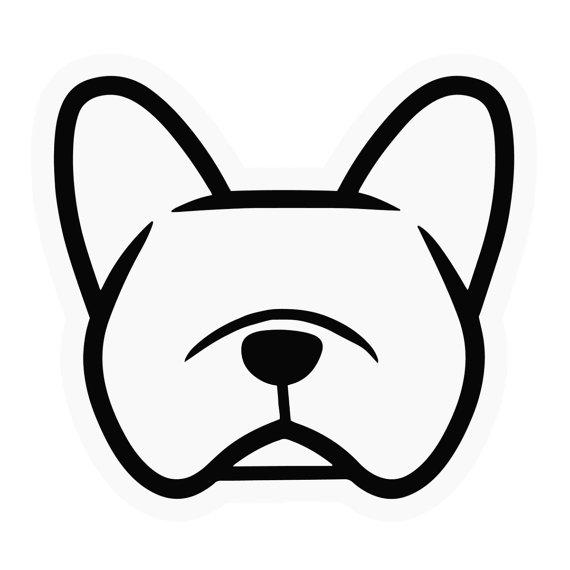 570x570 French Bulldog Clipart Face