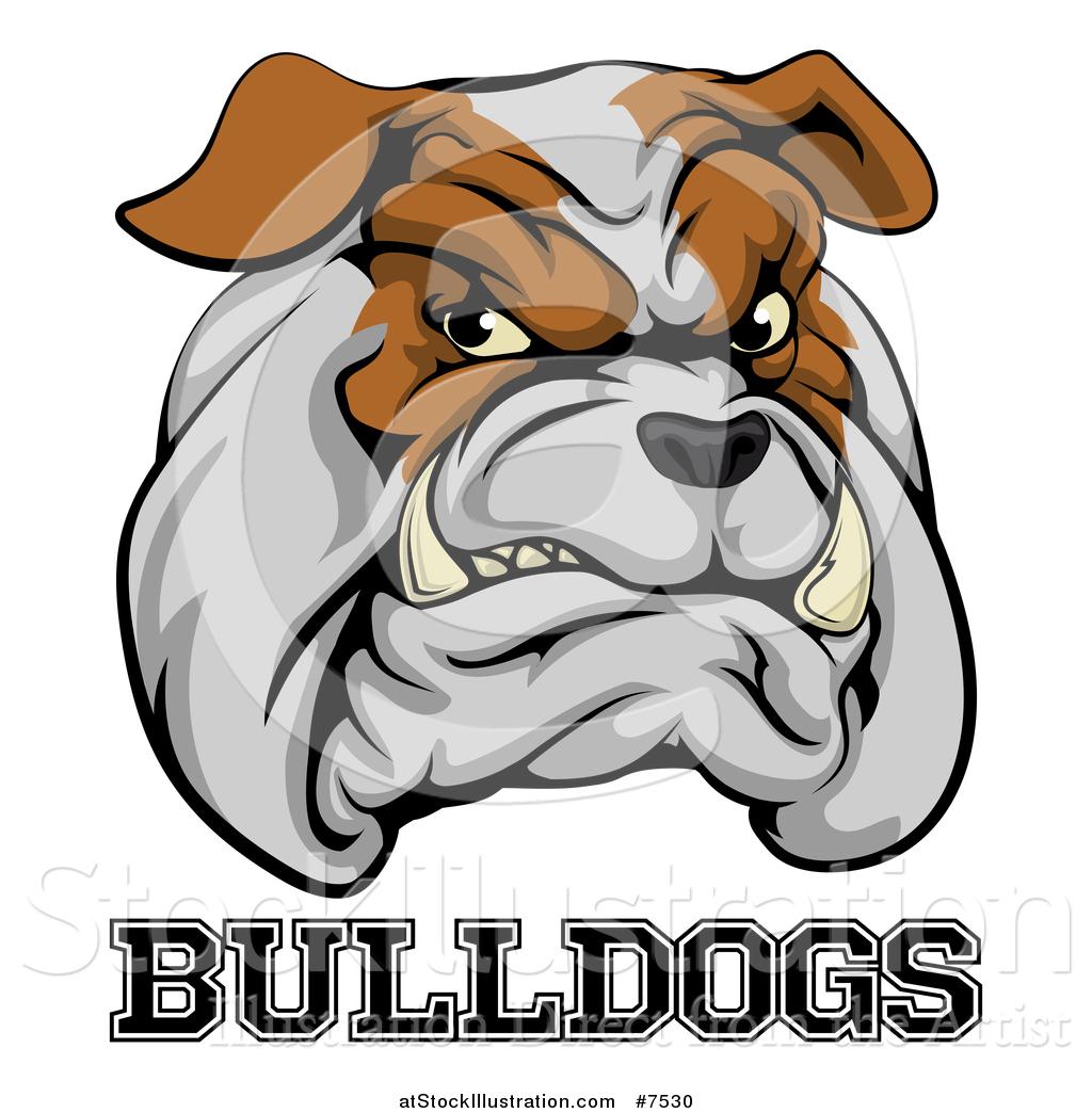 1024x1044 Vector Illustration Of A Growling Aggressive Bulldog Mascot Face