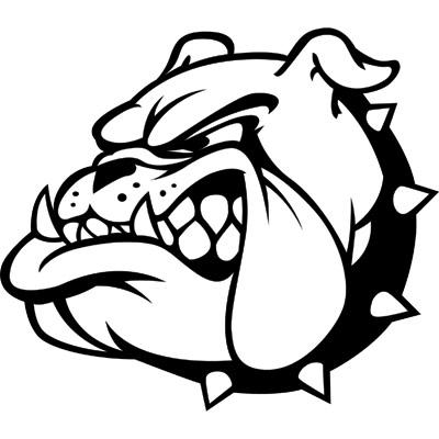 400x400 Bulldog Clipart Black And White