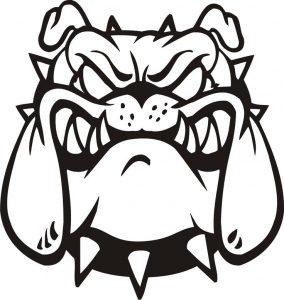 284x300 Coloring Pages Bulldog Face Drawing Bulldog Face Drawing