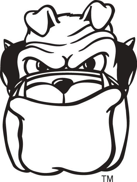 468x624 Drawn Bulldog Georgia Bulldogs