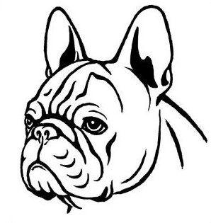 298x315 Bulldog Outline Clipart