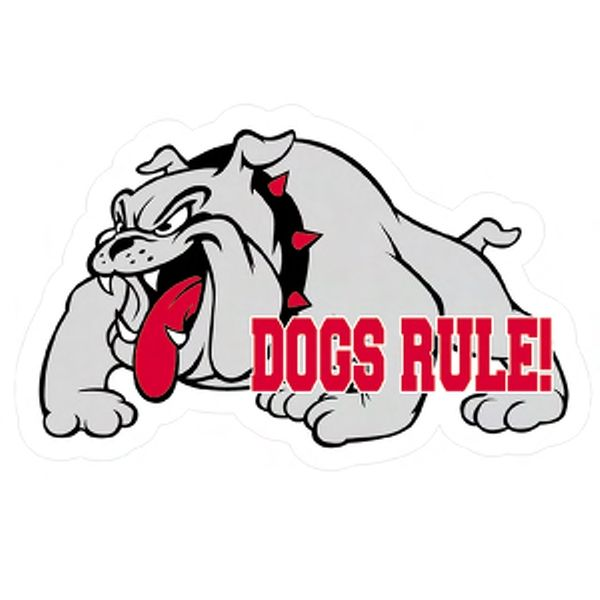 600x600 Bulldog Clipart Bulldog Football Mascot