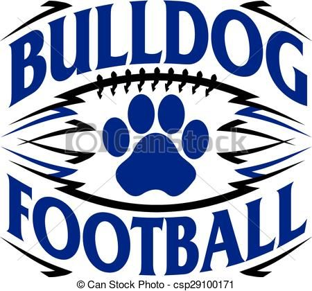 450x420 Free Bulldog Football Clipart