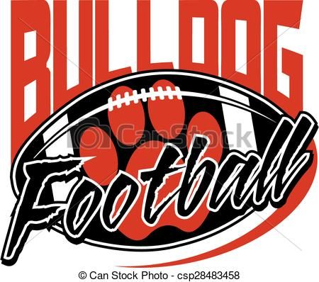 450x398 Vector Clip Art Of Bulldog Football