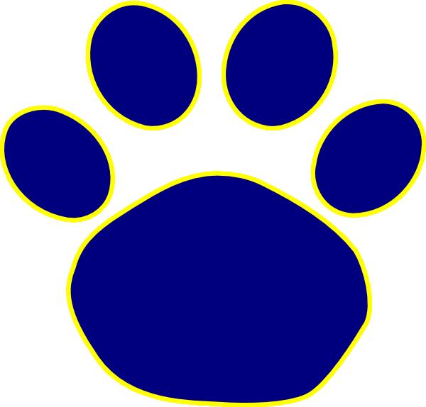 600x574 Bulldog Paw Print Clip Art