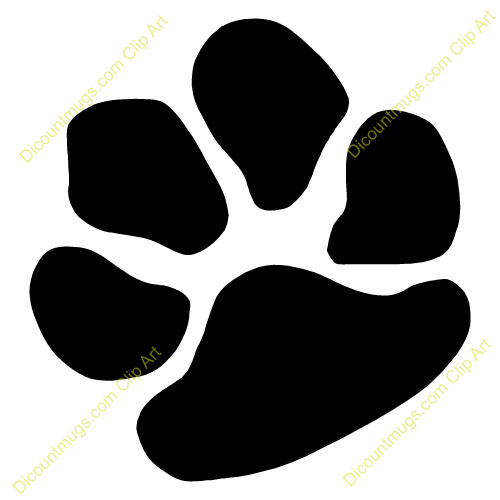 500x500 Paw Clipart Animal