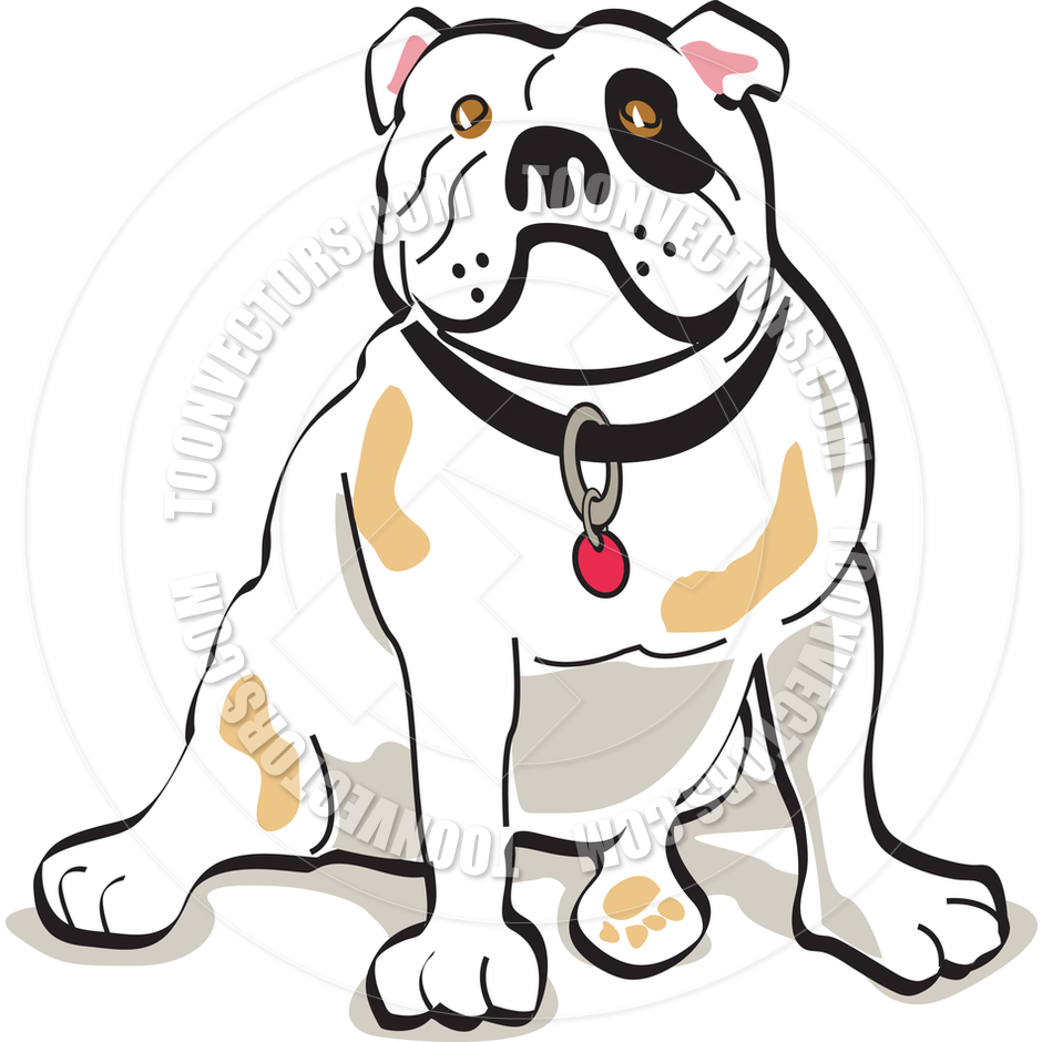 940x940 Cartoon Bulldog Vector Illustration By Clip Art Guy Toon Vectors
