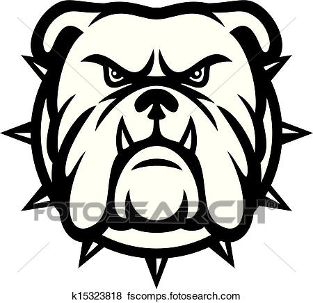 450x436 Clip Art Of Bulldog Head K15323818