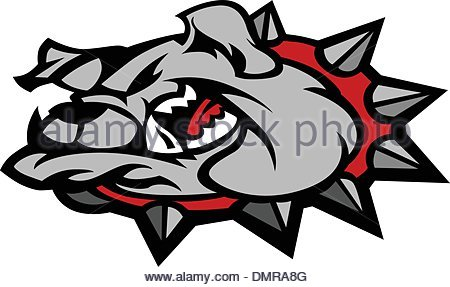 450x287 Bulldog Cartoon Face Vector Illustration Stock Vector Art