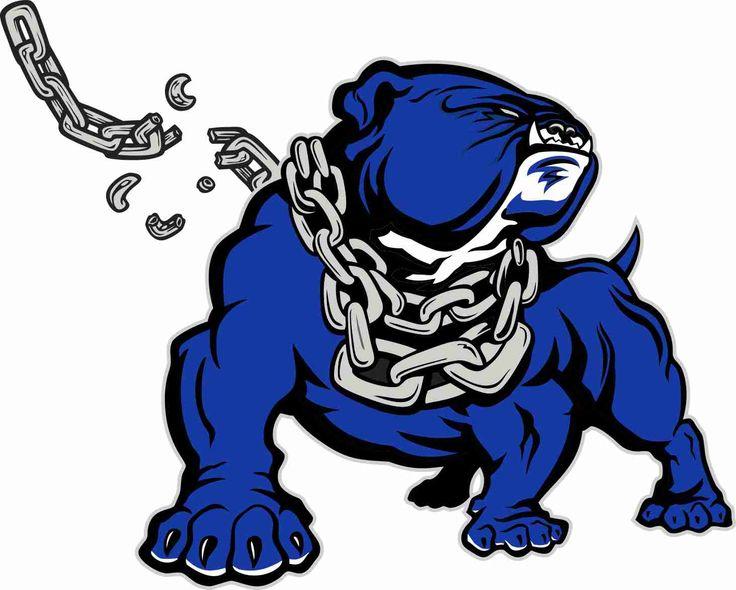 Bulldog blue. Logo clipart free download