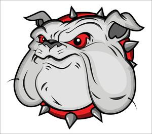 300x265 Bulldog Mascot Vector Illustartion Royalty Free Stock Image