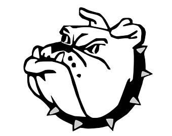 340x270 Bulldog Mascot Svg Etsy