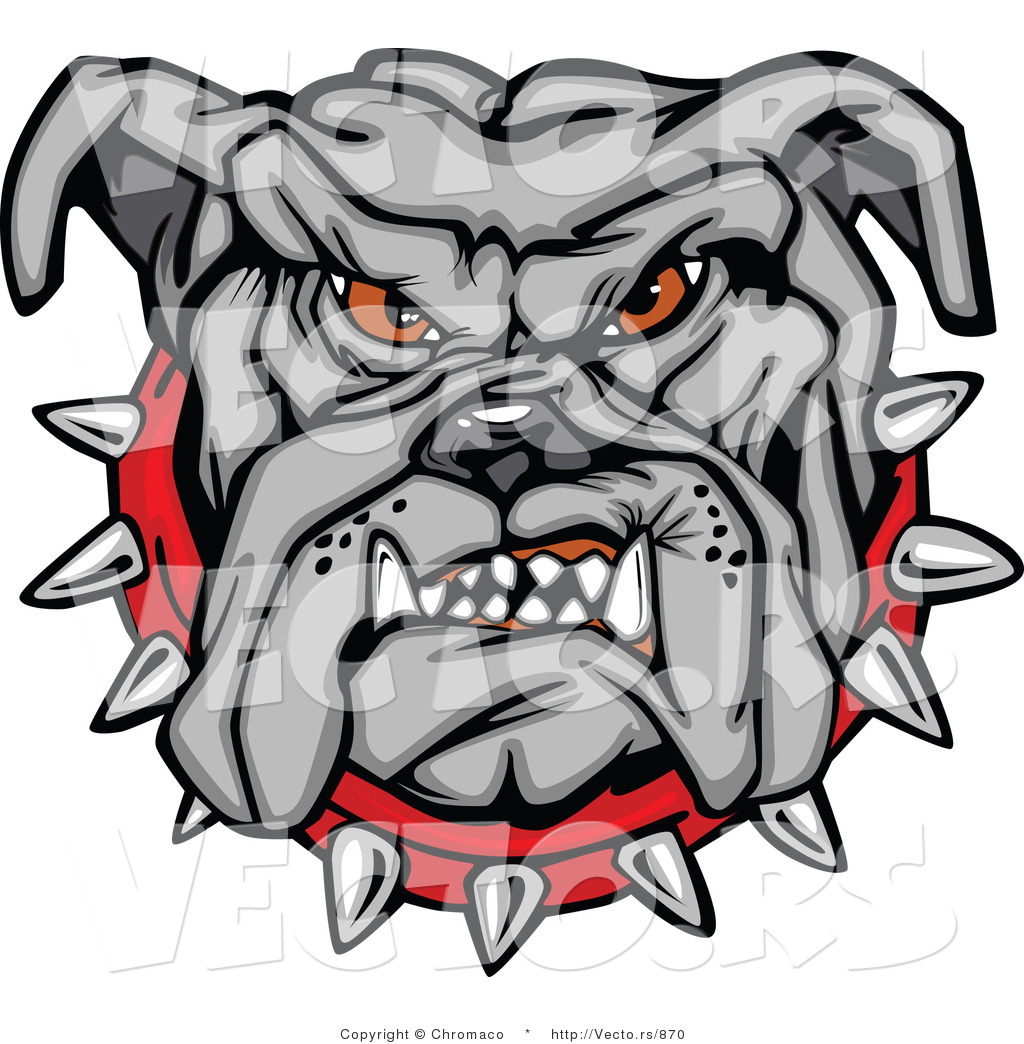 1024x1044 Vector Of A Dominant Bulldog Mascot Growling With Intimidating Red