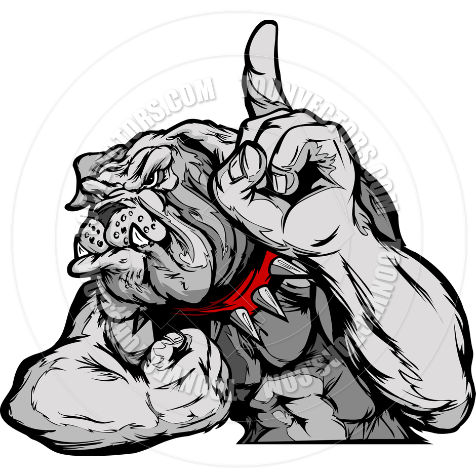 940x940 Bulldog Mascot Body Vector Cartoon By Chromaco Toon Vectors Eps