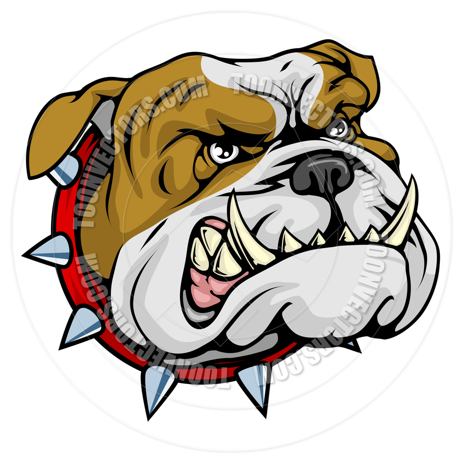 940x940 Mean Bulldog Mascot Illustration By Geoimages Toon Vectors Eps