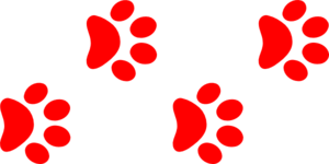 300x150 Red Paw Print Border Png, Svg Clip Art For Web
