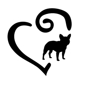300x300 Swirl Heart And Paw Print Decal