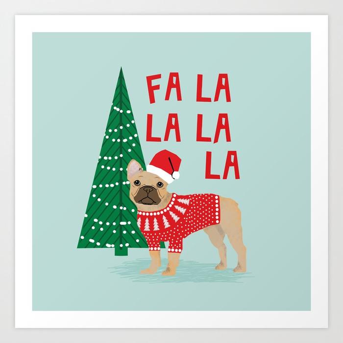 700x700 French Bulldog Christmas Festive Holiday Sweater Christmas Card