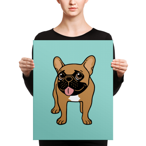 480x480 French Bulldog Design Canvas Prints Emotional Frenchies