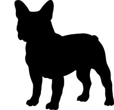 236x227 French Bulldog Silhouettes Set Of 4, Frenchie Sign Wall Art Print