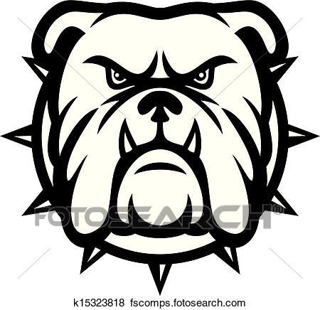 450x436 Clip Art Of Bulldog Head K15323818