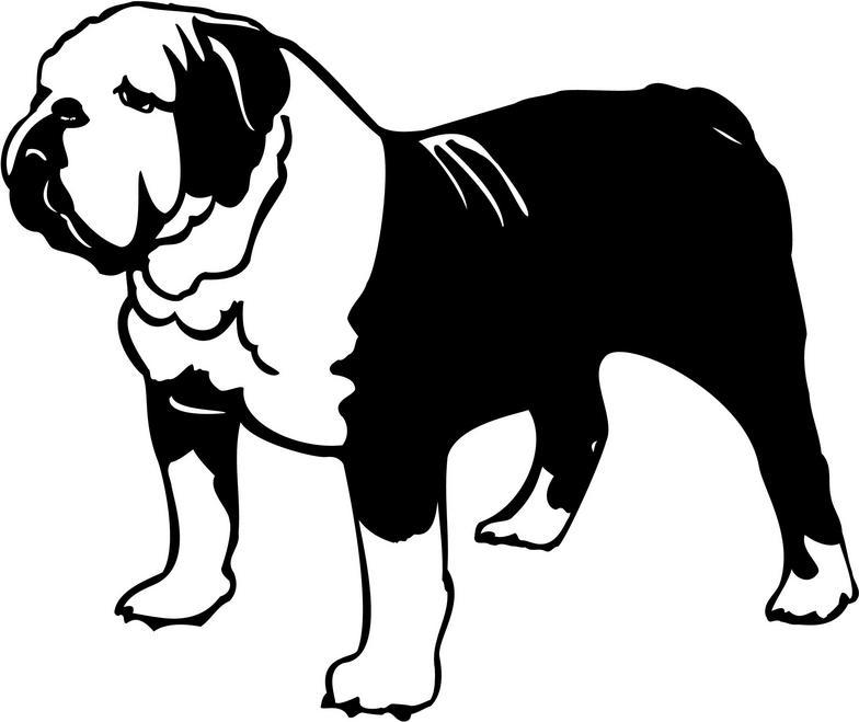 784x659 Shadow Clipart Bulldog