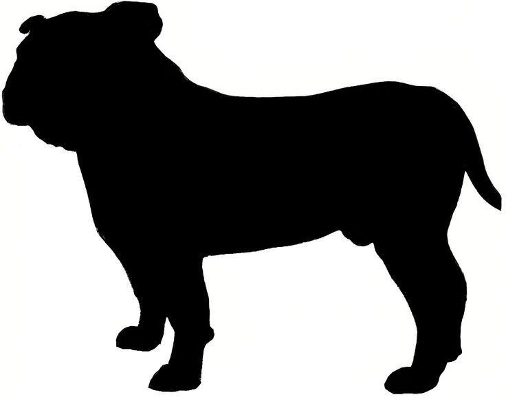 736x577 Bulldog Silhouette Clip Art