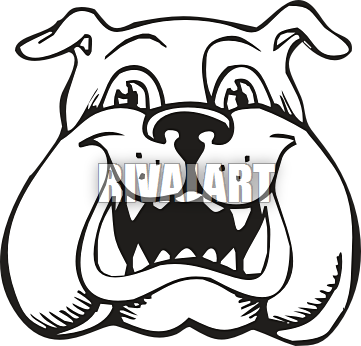 361x346 Bulldog Clipart Happy