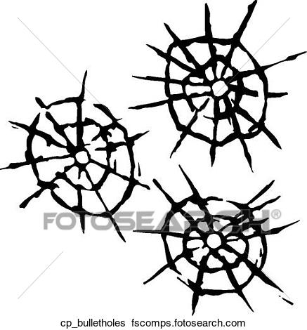 437x470 Clip Art Of Bullet Holes Cp Bulletholes