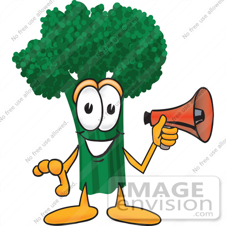 450x450 Clip Art Graphic Of A Broccoli Mascot Character Preparing To Make