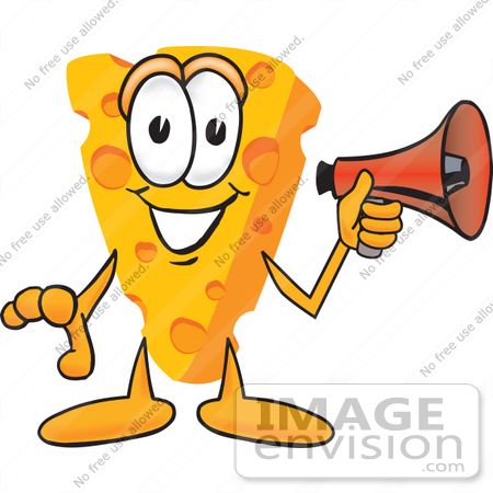 450x450 Clip Art Graphic Of A Swiss Cheese Wedge Mascot Character Holding